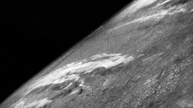 The first photo of Earth from space