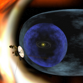 An artist's impression of Voyager 2 reaching the edge of the heliosphere. Credit: Stocktrek Images/Getty Images