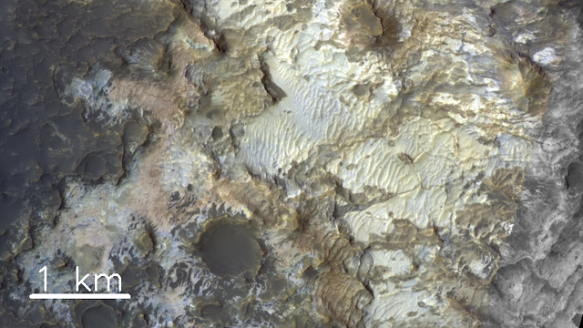Inside a Martian crater