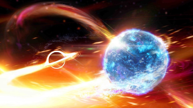 Did scientists just detect a black hole eating a neutron star?