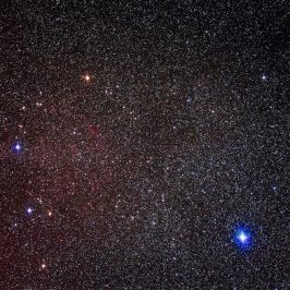 Comet against background of stars