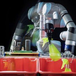 Robots moving a balloon