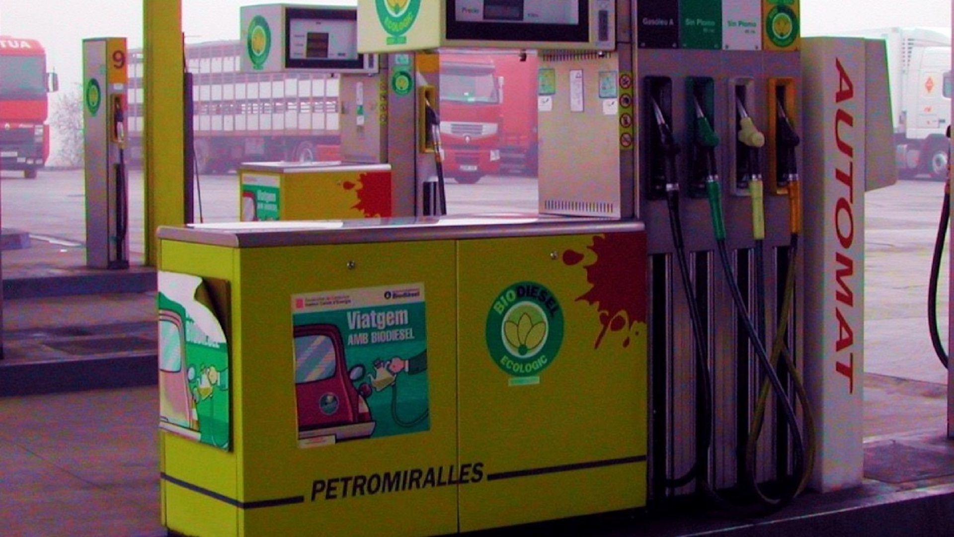 Diesel pump at petrol station