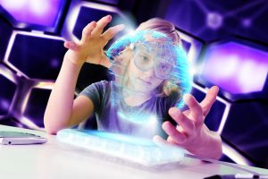 Child interaction with augmented reality