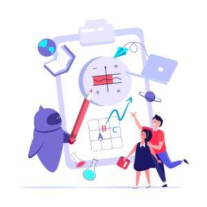 Robot teaching children