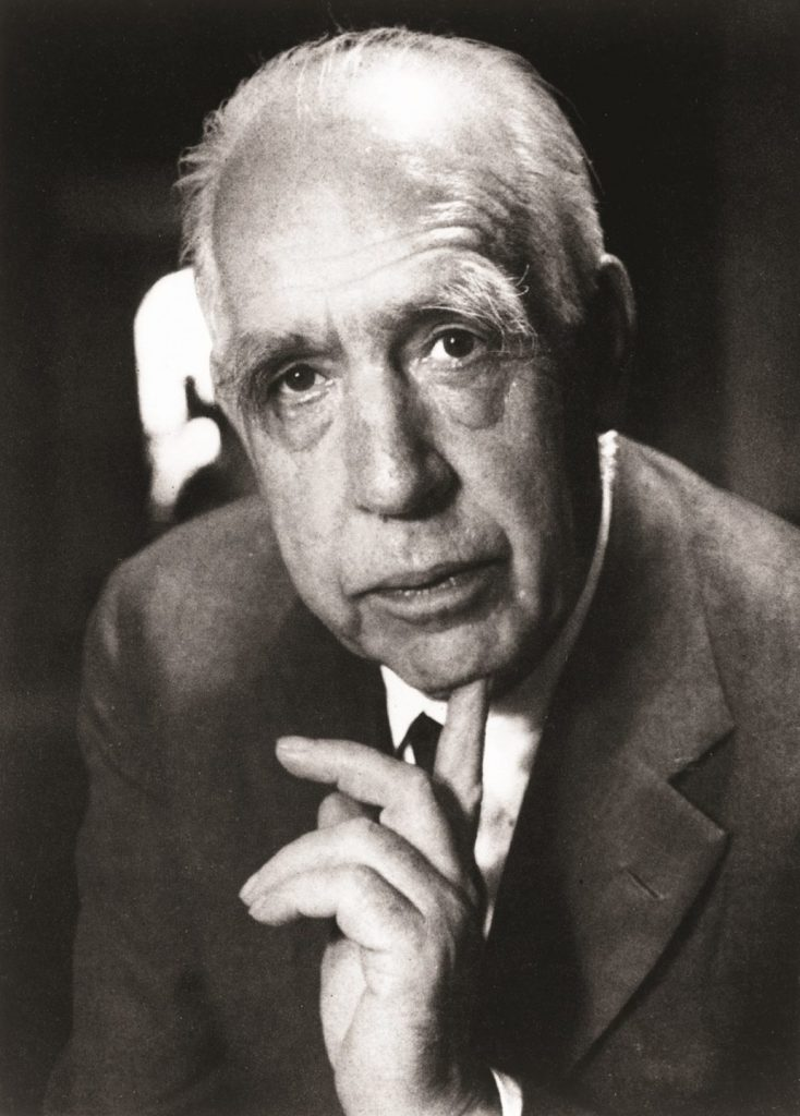 Photograph of Niels Bohr who proposed the current model of the atom in 1915.