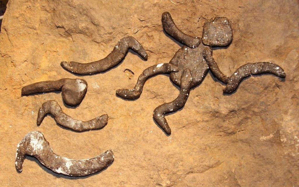Rock art cave stencils
