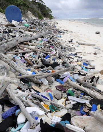 Cocos Keeling Islands plastic waste accumulation