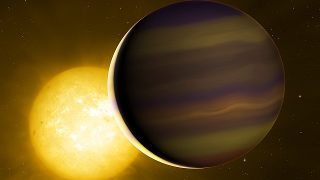 Exoplanet atmosphere hints it formed far from star