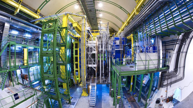 Massive equipment for a physics experiment at Cern.