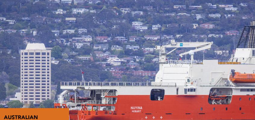 Nuyina has arrived in Tasmania!
